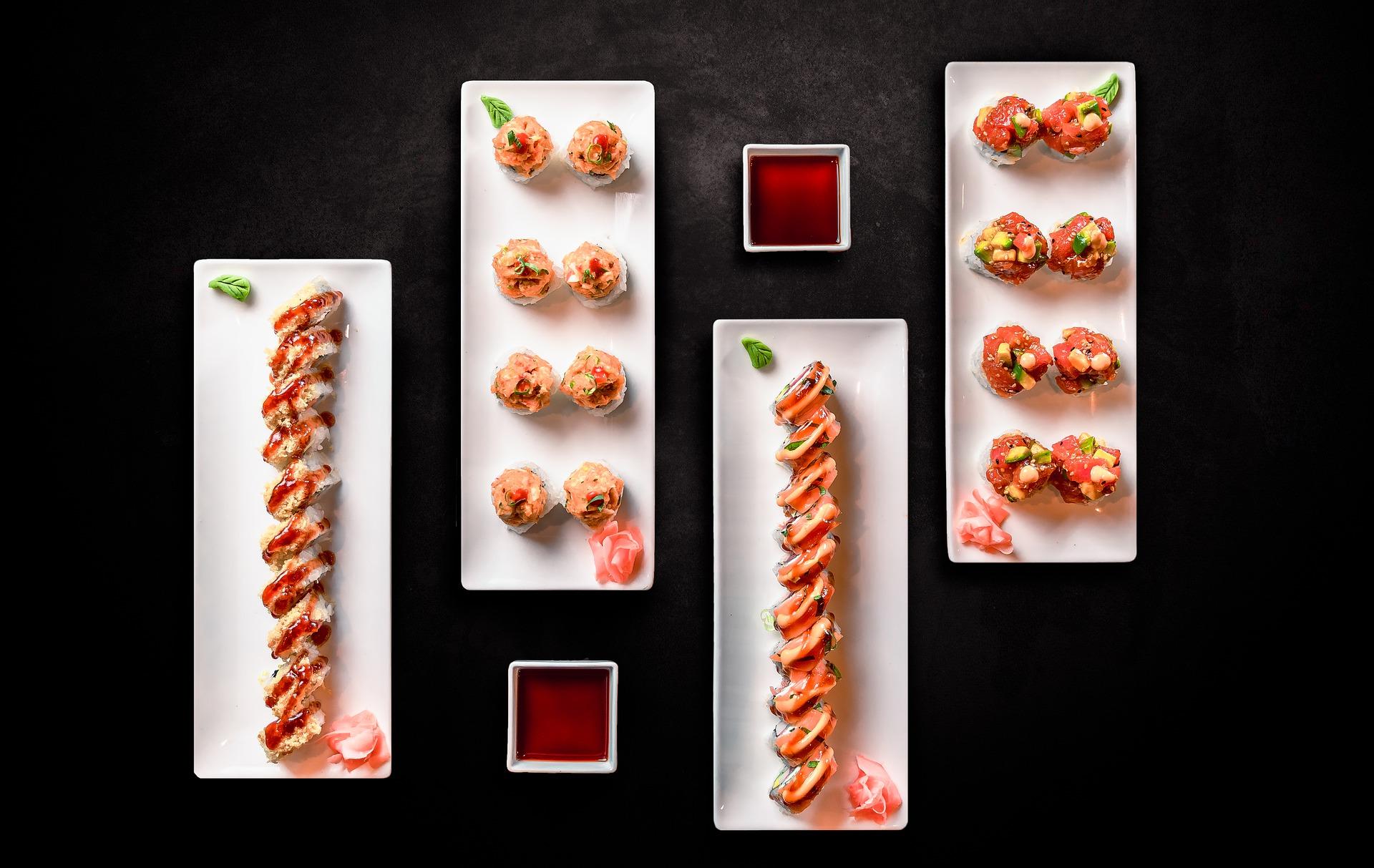 foodstyling tuna sushi