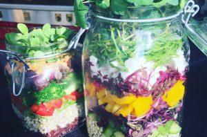 Gezonde salade met Cress