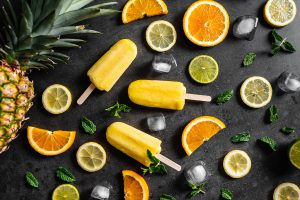ijs sinasappel - limoen - citroen